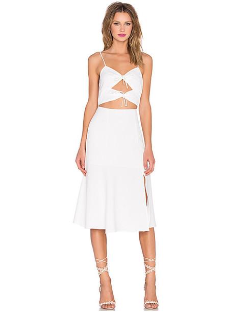 dress white dress slit dress cut-out dress cut-out summer dress party dress