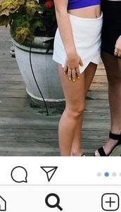 skirt,white,mini skirt,short
