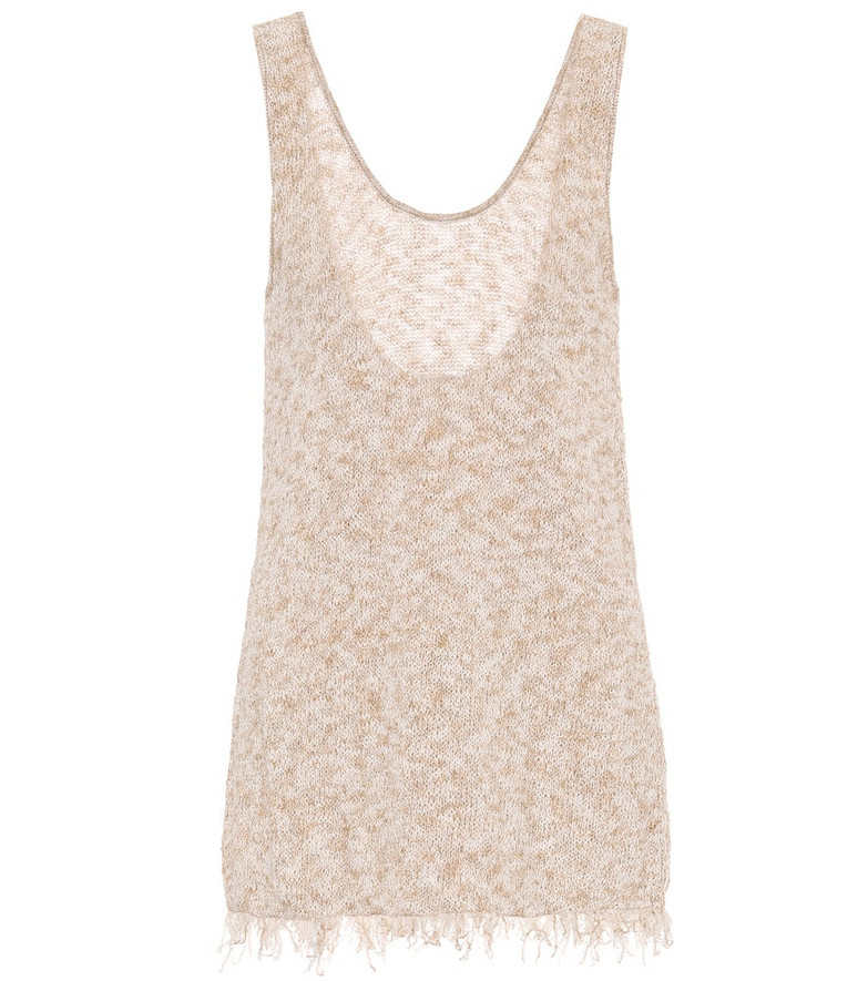 Alanui Exclusive to Mytheresa – Cotton-blend tank top in beige