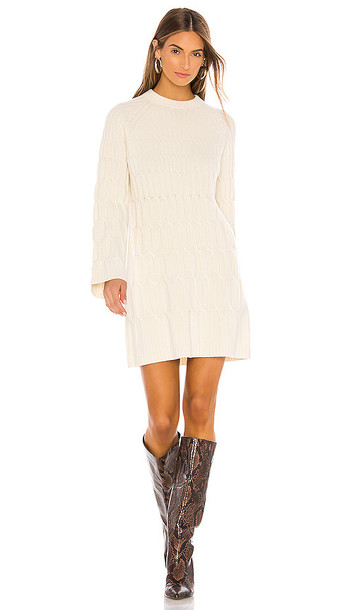 Theory Cable Dress in Cream