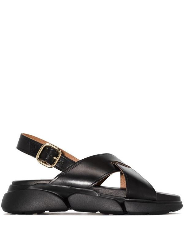 ATP Atelier Barisci flatform leather sandals in black