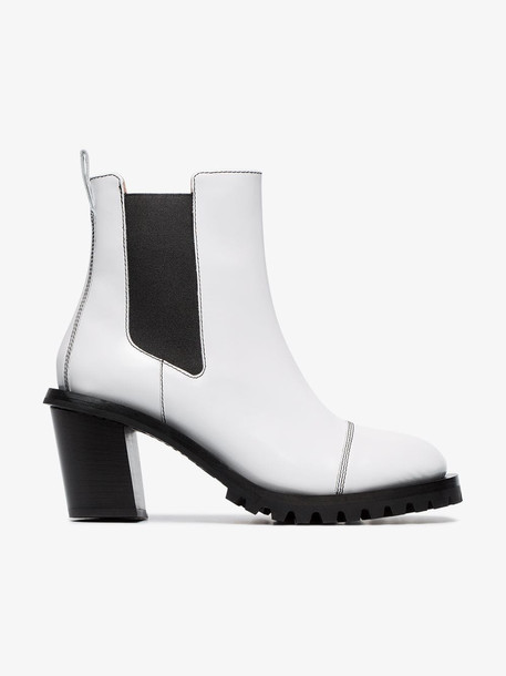 Acne Studios Pull-on 65 leather ankle boots in white