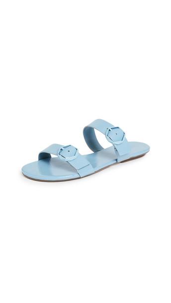 Schutz Alisa Double Band Sandals in blue