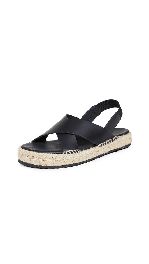 WANT Les Essentiels Niutta Espadrille Sandals in black