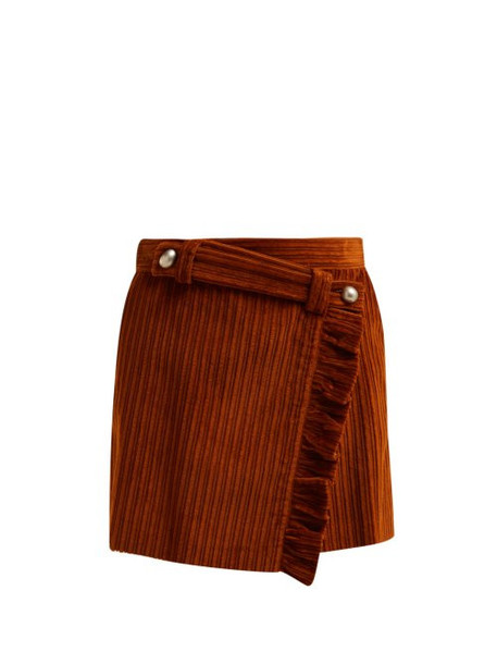 skirt mini skirt mini cotton brown