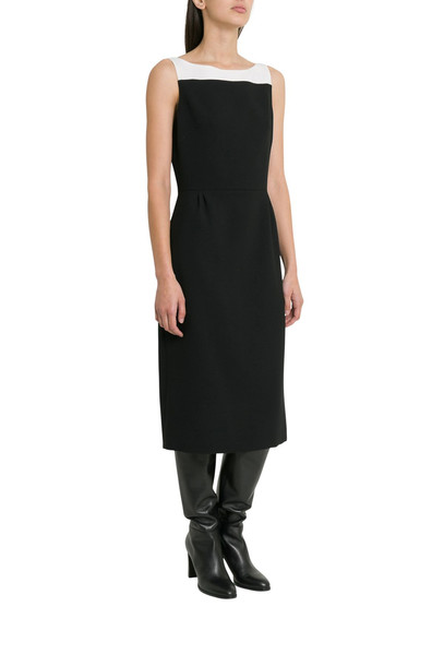 Givenchy Colorblocked Wool Sleeveless Dress in nero