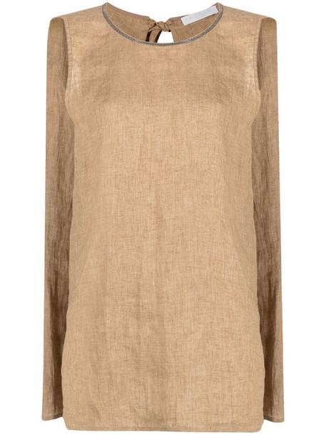 Fabiana Filippi trapeze-style blouse in brown