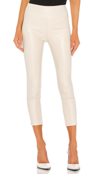 SPRWMN High Waist 3/4 Legging in White