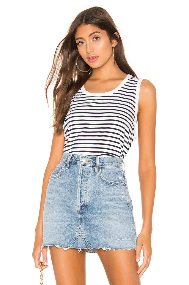 Frank & Eileen Tee Lab Relaxed Asymmetric Tank in white