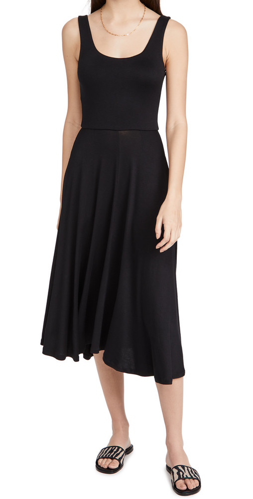 Vince Full Skirt Dress in black