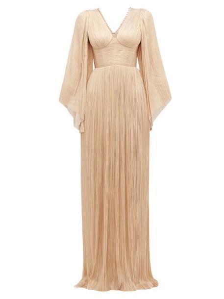 Maria Lucia Hohan - Catalina Plissé Silk Tulle Gown - Womens - Light Pink