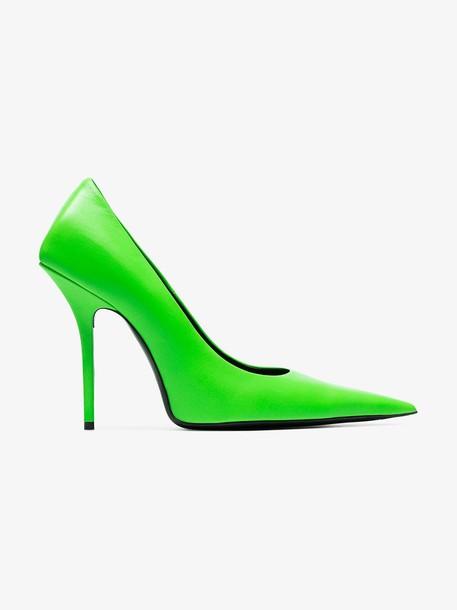 Balenciaga Fluoro green Knife 110 pumps