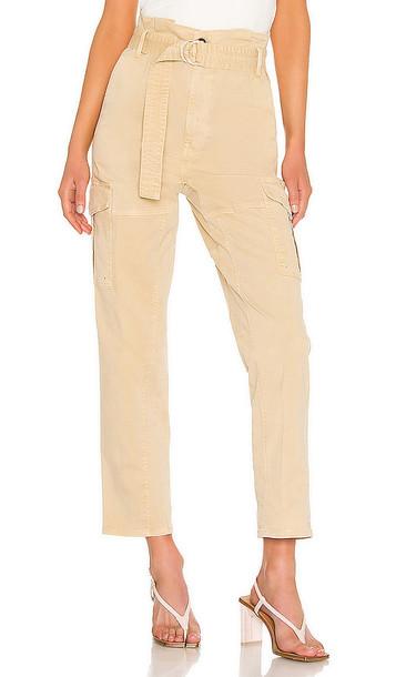 FRAME Safari Belted Pant in Tan