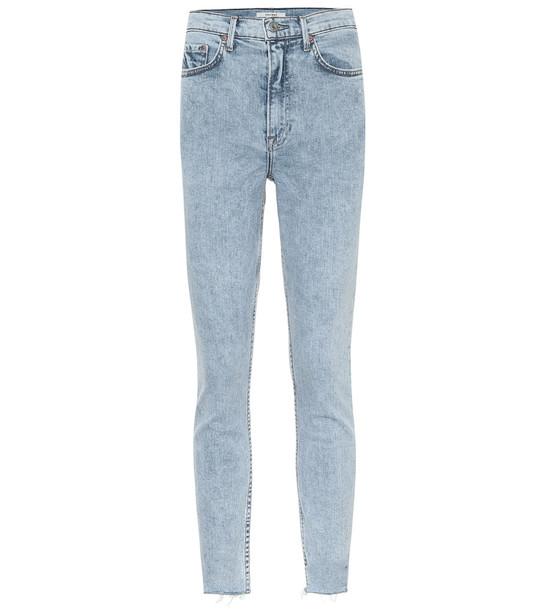 Grlfrnd Karolina high-rise skinny jeans in blue