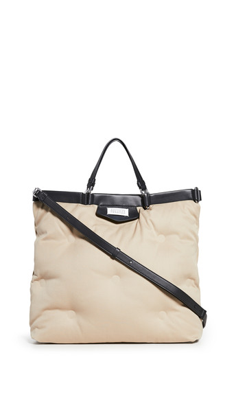 Maison Margiela Glam Slam Shopping Tote in black / ecru