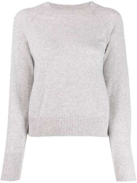A.P.C. cashmere knitted jumper in grey