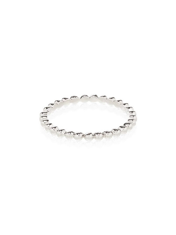 Rosa de la Cruz 18K white gold beaded ring