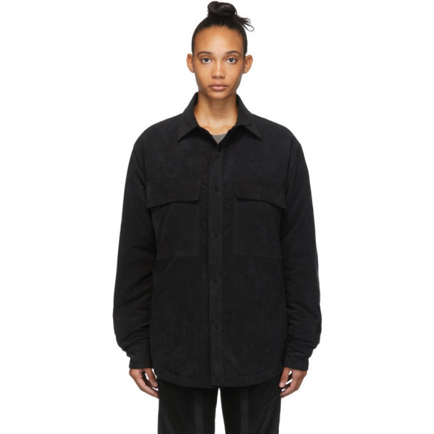 Fear of God Black Faux-Suede Jacket Shirt