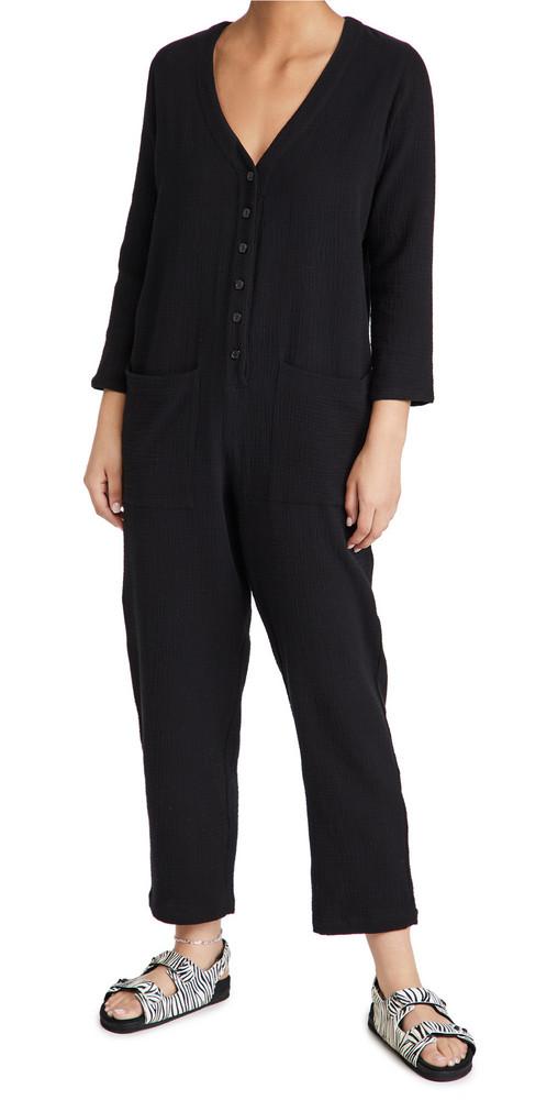 Rachel Pally Gauze Troy Jumpsuit in black