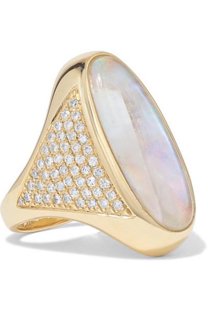 Jacquie Aiche - 14-karat Gold Moonstone And Diamond Ring
