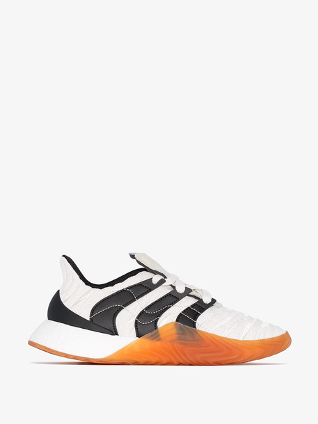 Adidas white Sobakov Boost leather low top sneakers