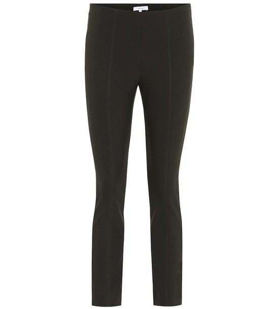 Vince High-rise ponte-jersey skinny pants in green