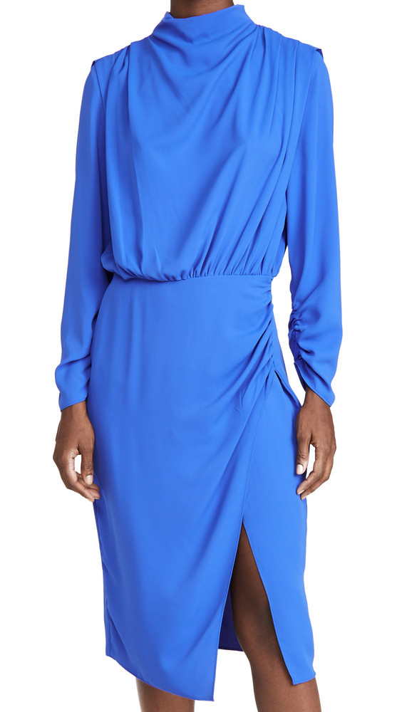 Amanda Uprichard Fabienne Dress in cobalt