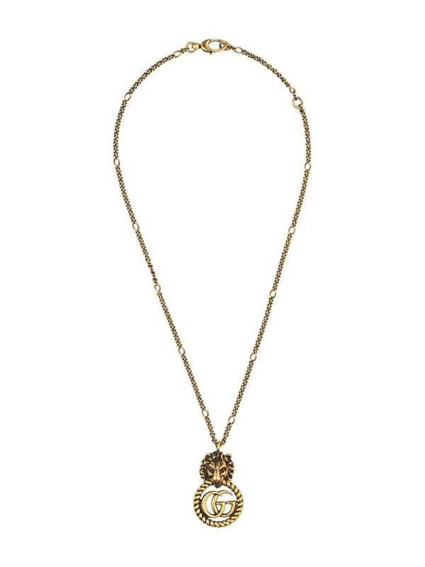 Gucci lion head necklace in gold