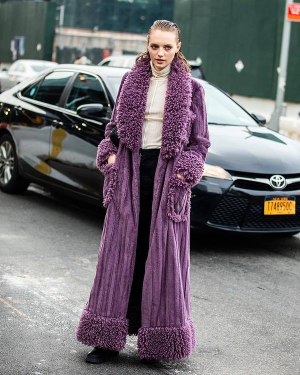 sweater turtleneck sweater black boots black pants high waisted purple long coat suede