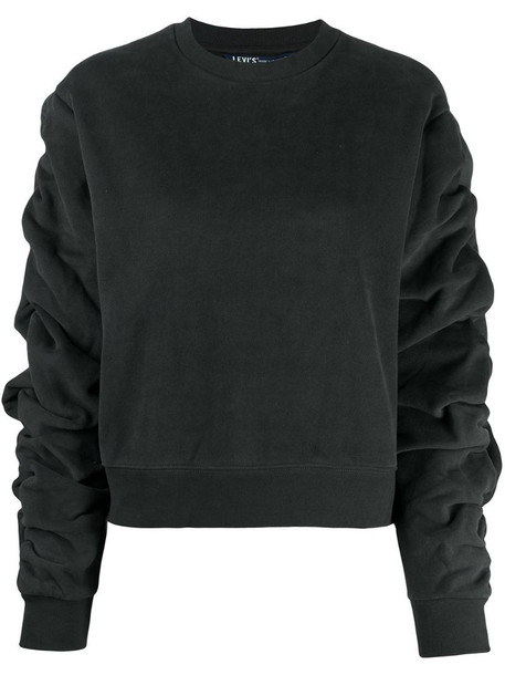 Levi's: Made & Crafted ruched-sleeve sweatshirt in blue