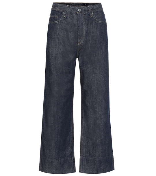 AG Jeans Etta high-rise wide-leg jeans in blue