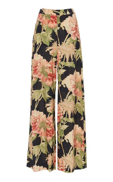 Zimmermann Floral-Print Silk-Blend Wide-Leg Pants