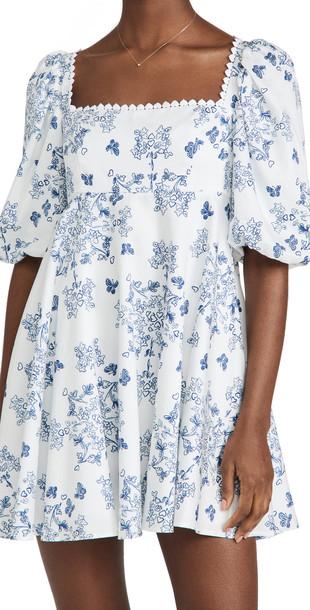 macgraw Vienna Dress in blue / white