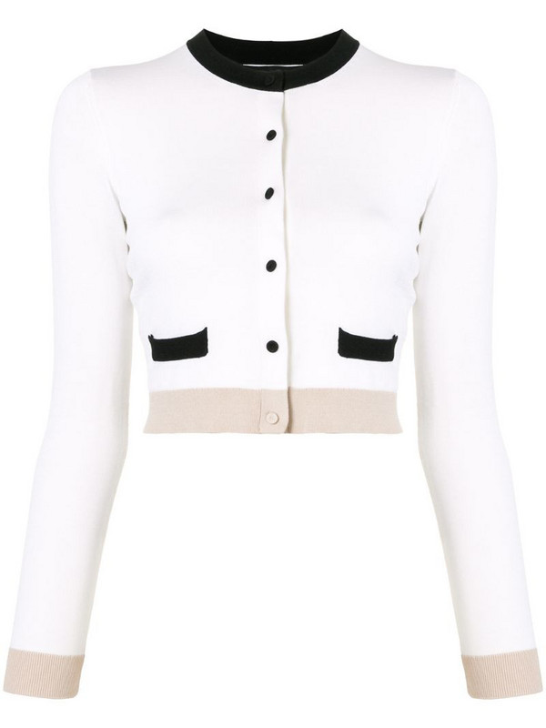 Paule Ka button-down cardigan in white