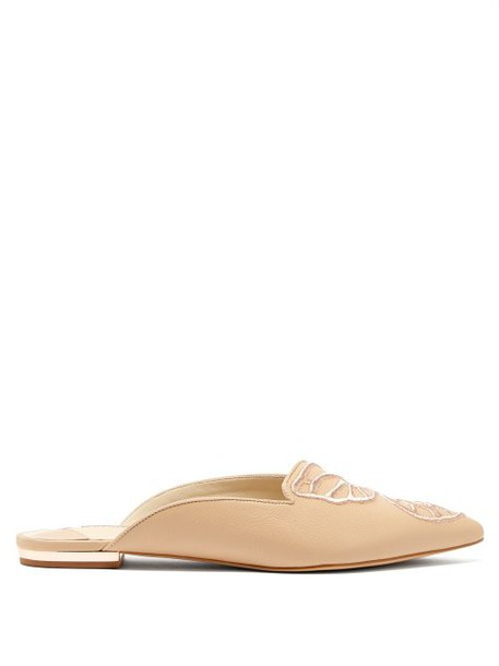 Sophia Webster - Bibi Butterfly Leather Loafers - Womens - Tan Gold