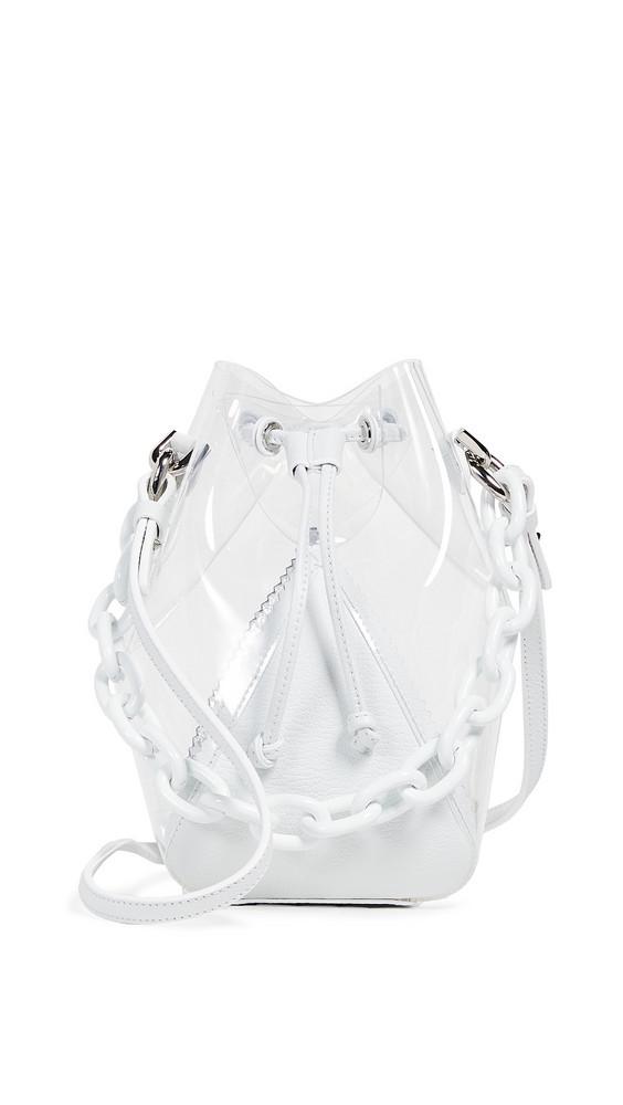 THE VOLON Mani Mini Bucket Bag in white