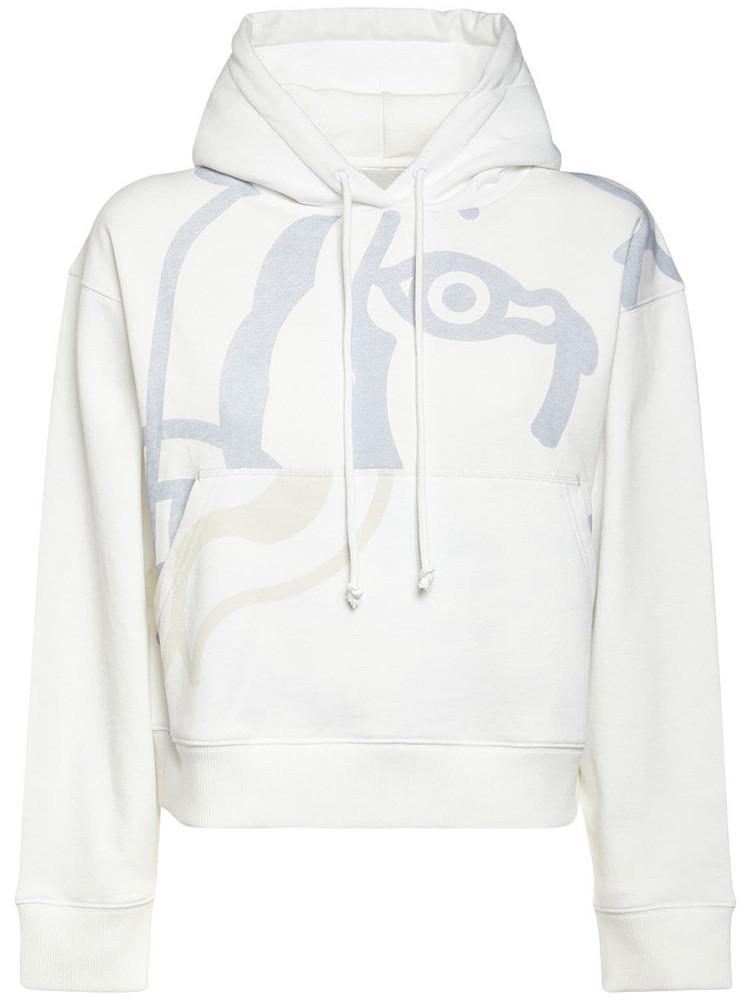 KENZO K-tiger Cotton Sweatshirt Hoodie in white