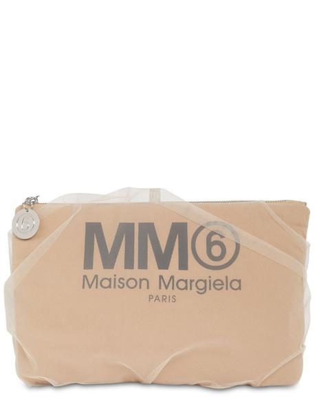 MM6 MAISON MARGIELA Medium Techno & Tulle Clutch