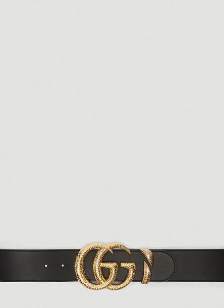 Gucci Double G Logo Belt in Black size 70