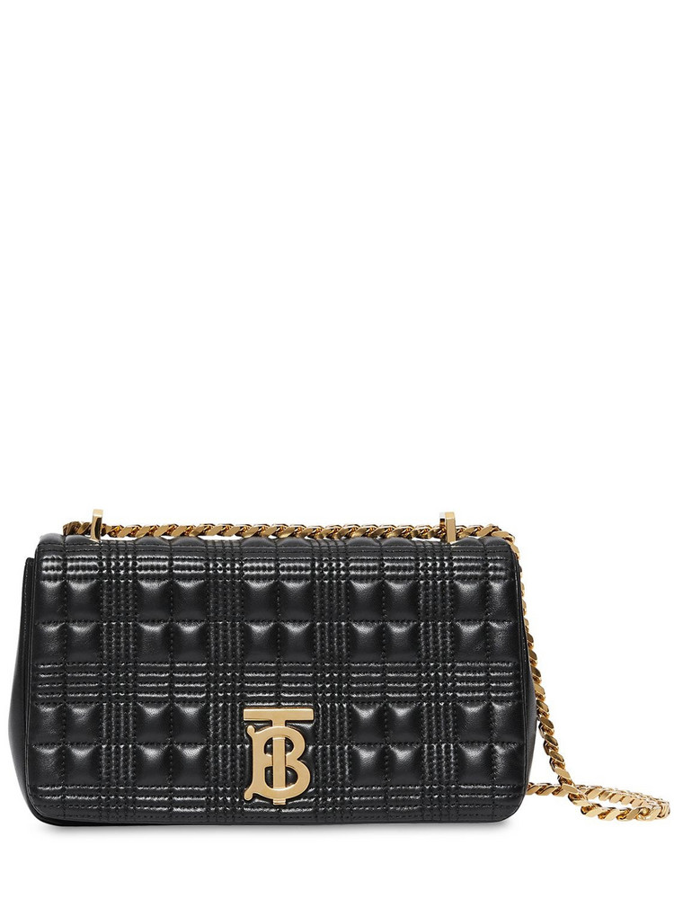 BURBERRY Sm Lola Quilted Leather Bag in black