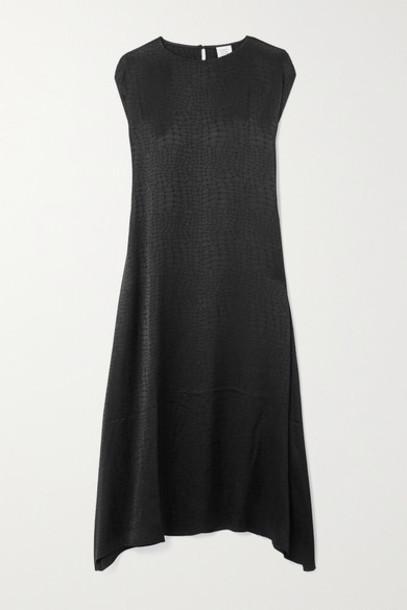 Vetements - Asymmetric Satin-jacquard Dress - Black