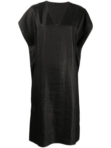 Joseph linen-blend dress in black
