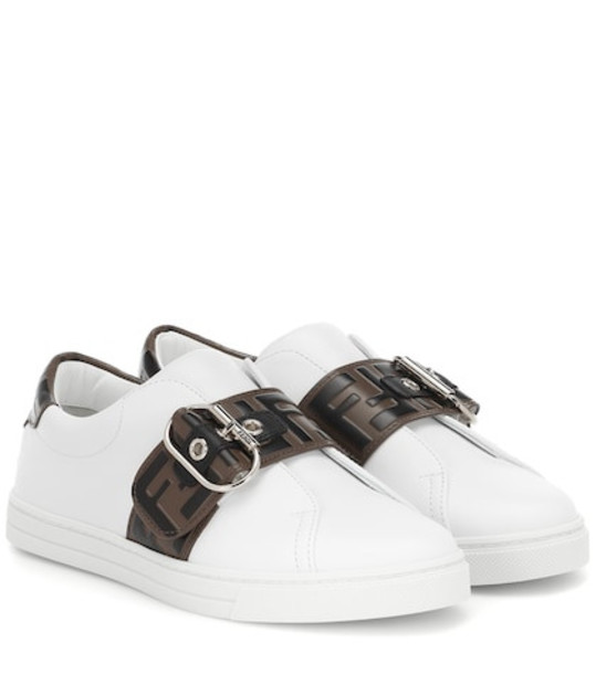 Fendi Leather sneakers in white