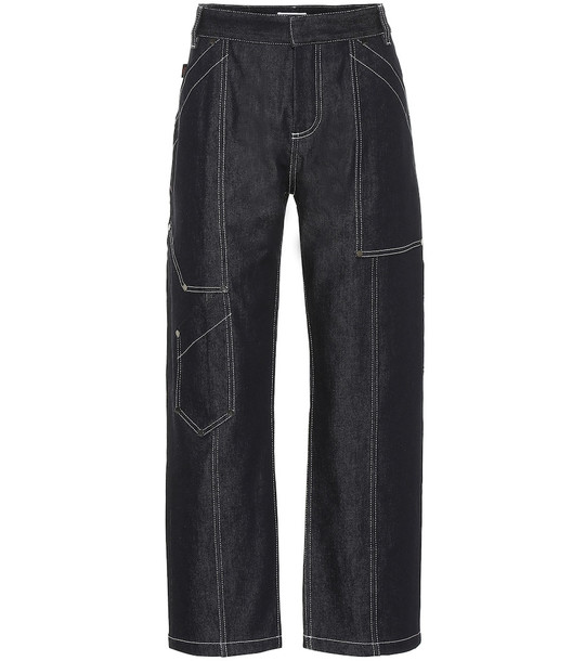 Chloé High-rise cropped jeans in blue