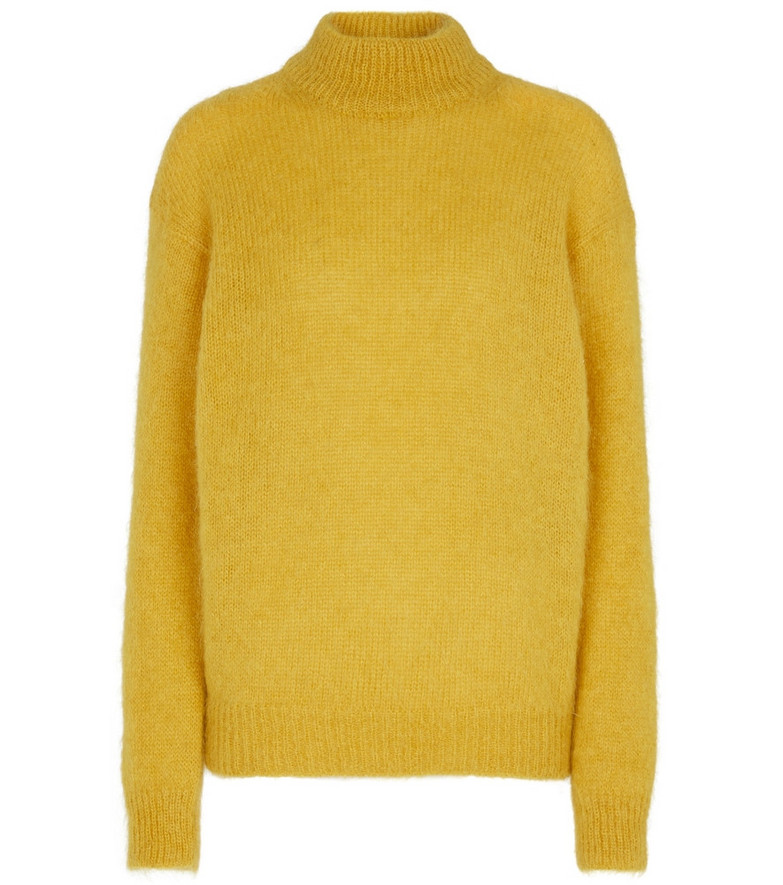 Tom Ford Mohair and wool-blend sweater in yellow