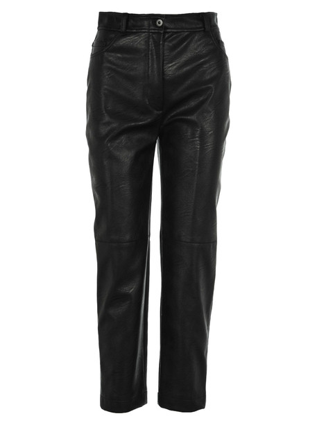 Stella Mccartney Faux Leather Carrot Pant in black