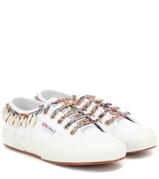 Alanui x SUPERGA® embellished sneakers in white