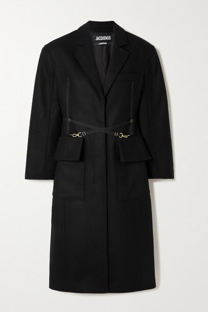 Jacquemus - Soco Buckled Wool-blend Coat - Black