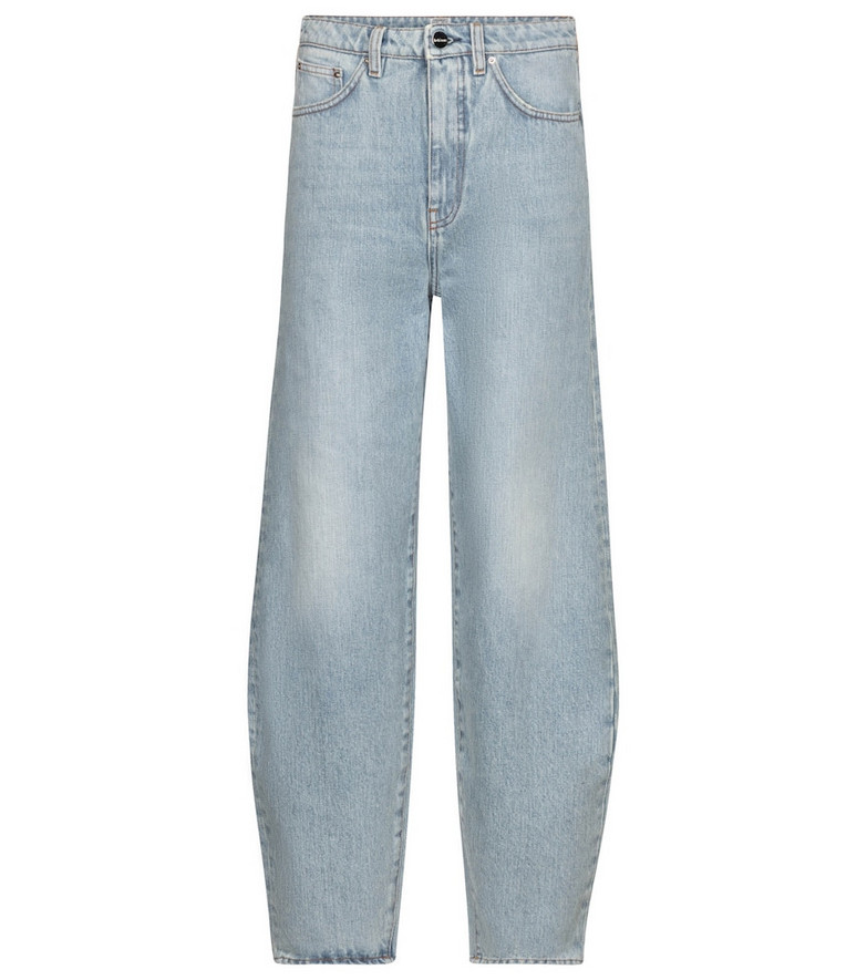 Toteme Exclusive to Mytheresa – High-rise barrel-leg jeans in blue