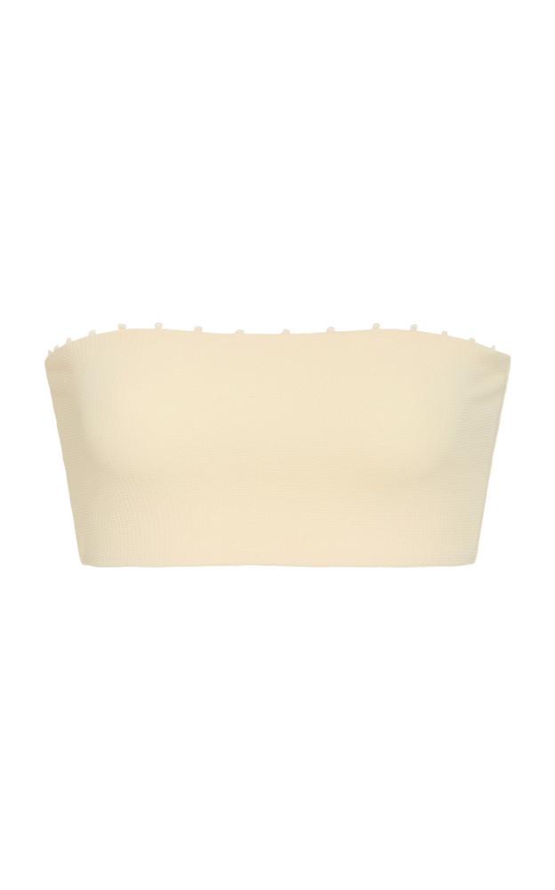 Marysia Swim Shell Strapless Bikini Top in white